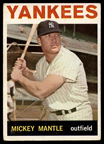 Baseball MLB 1964 Topps #50 Mickey Mantle VG Very Good - Baseball Topps 1964