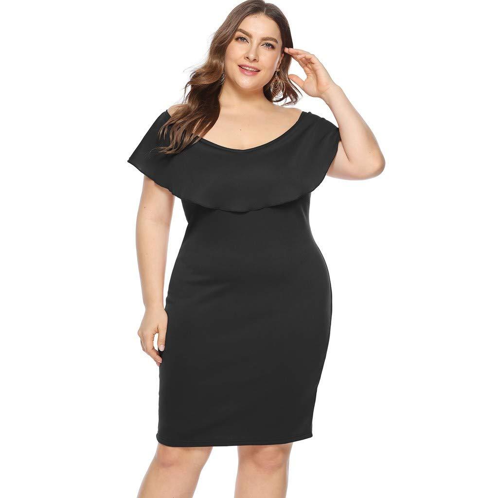 944ca5c820ca Amazon.com: kemilove Women's Sexy Plus Size Party Dress Sleeveless Bodycon:  Clothing