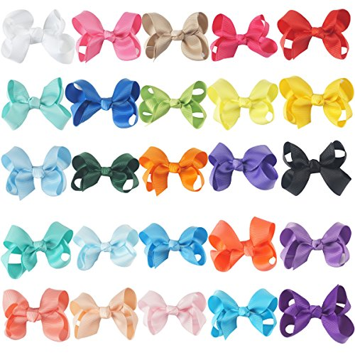 CN 3 Inch Boutique Baby Girls Hair Bows With Alligator Clips For Infant Baby Toddler Kids Pack of (Outfits From The 80s)