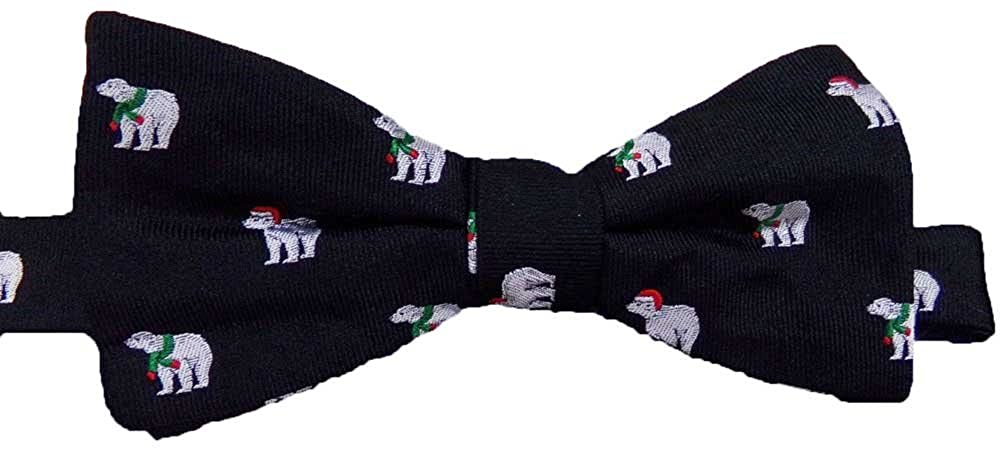 Chaps Men Holiday Design Colorful Silk Bow Tie