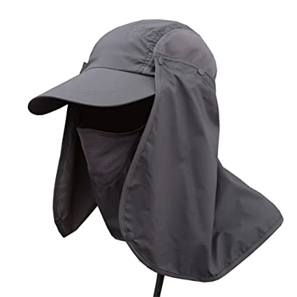 1715940e409 Image Unavailable. Image not available for. Color  Wingbind Outdoor Sun  Protection Fishing Cap with Removable Neck Flap
