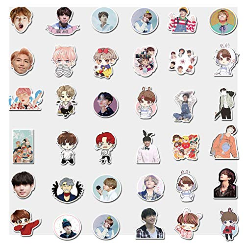 Pop Singer BTS Stickers 76Pcs Variety Vinyl Waterproof Car Sticker Motorcycle Bicycle Luggage Decal Graffiti Patches Skateboard Stickers for Teens