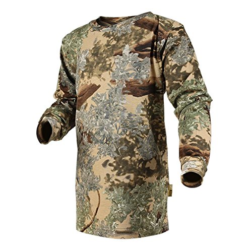 King's Camo Kids Camo Cotton Long Sleeve Hunting Tee, Desert Shadow, Small
