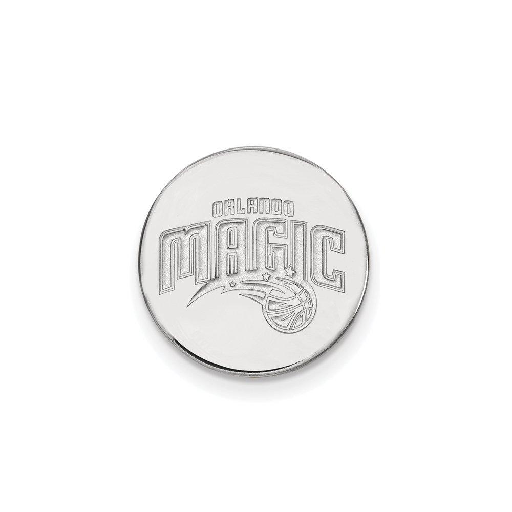 NBA Orlando Magic Lapel Pin in 14K White Gold
