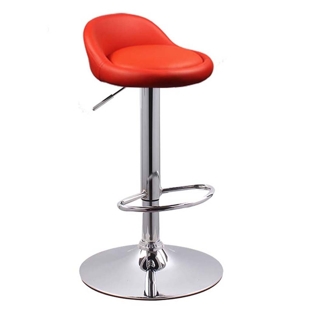 Red WFFXLL Lift Bar Chair high Chair Home European High Chair Bar Stool (color   orange)