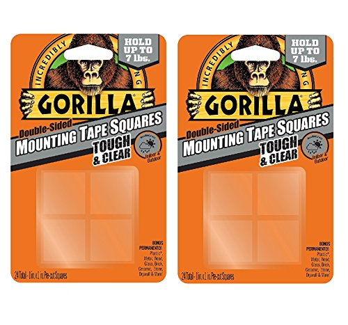 Stick Mounting Squares (Gorilla 6067201 Mounting Tape Squares, Tough & Clear (2 Pack))