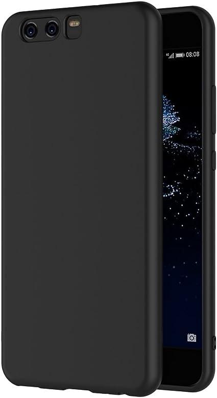 AICEK Cover per Huawei P10, Cover Huawei P10 Nero Silicone Case Molle di TPU Sottile Custodia per Huawei P10 (5.1 Pollici)