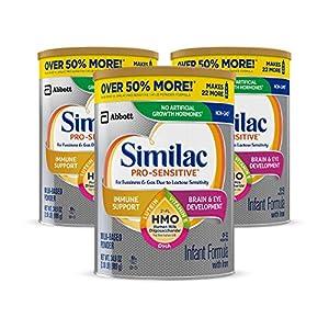 Similac Pro-Sensitive Infant Formula , Non-GMO, with Iron, 2'-FL HMO, for Immune Support, Milk-Based Powder, 2.18 Lb…