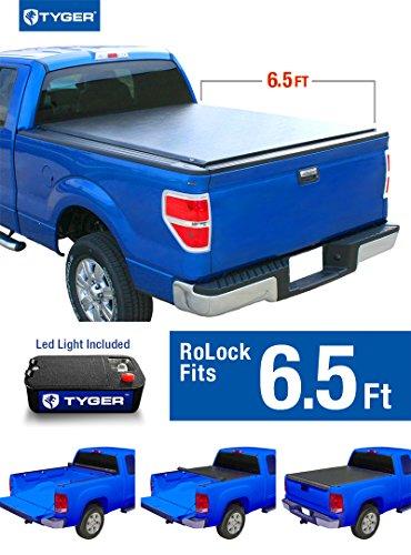 Tyger Auto TG-BC2N2082 RoLock Low Profile Roll-Up Truck Bed Tonneau Cover 2004-2015 Nissan Titan   Fleetside 6.5