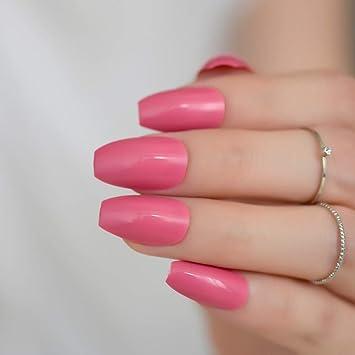 Amazon.com: 24 piezas de uñas de color puro para caramelos ...