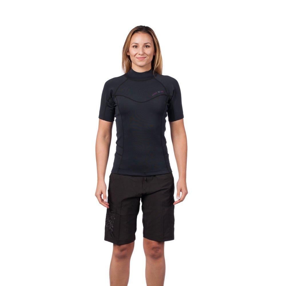 Level Six Women's Sombrio Shorts Sleeve Neoprene Rashguard, Medium, Black by Level Six