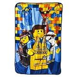 The Lego Movie Twin Sized Plush Blanket - 157 cm x 229 cm