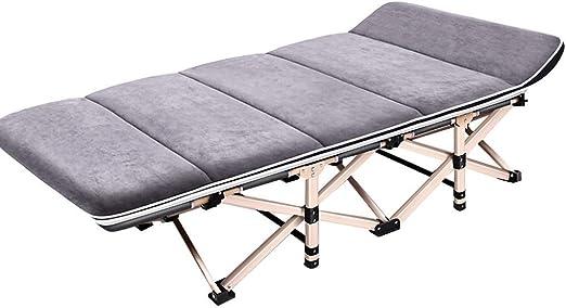 Mueble de jardín/Cama Plegable Cama Individual Casa Adultos Almuerzo Cama Siesta Lounge Oficina Cama Simple Cuidado de Marcha: Amazon.es: Jardín