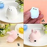 Kawaii Slow Soft Rising Squishy Squeezen Dingding Cute Mini Cat Fidget Toy Stress Reliever Kids Toy Gift Raptop (B1)