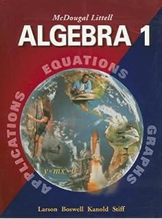 Amazon geometry grades 9 12 mcdougal littell high school mcdougal littell algebra 1 applications equations graphs fandeluxe Choice Image
