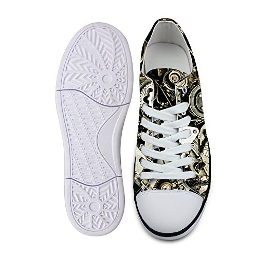 Silver Lace Stylish Comfortable B up FOR U Sneaker Top Canvas Casual Men's Fashion Low DESIGNS qTUHxOwxB