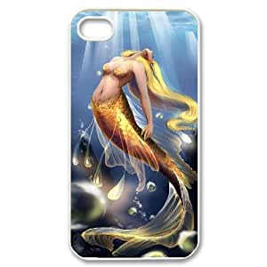 J-LV-F Customized Print Mermaid Pattern Back Case for iPhone 4/4S