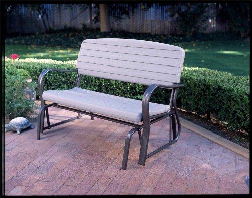 Lifetime 2871 Indoor Outdoor Glider Bench 4 Feet Putty