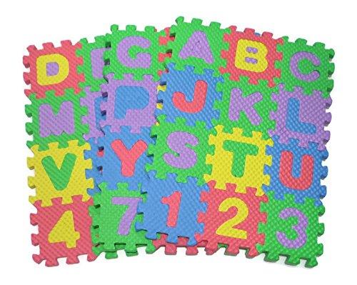 Teach Kids to Learn ABC English Alphabet Jigsaw Puzzle Toy Children Nursery Class Small Size 6x6 cm.