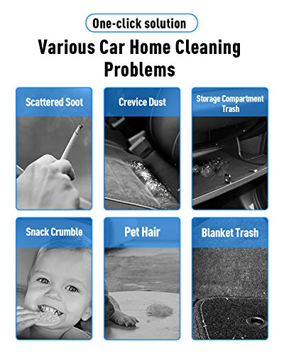 Keyboard Cleaner,Hand Held Cordless Computer Vacuum Cleaner Air Duster Handheld Wireless Car Cleaner with Battery Operated with LED Light for Home Car Pet