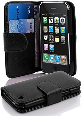 Cadorabo Coque pour Apple iPhone 3 / iPhone 3GS en Noir DE Jais - Housse Protection en Similicuir Structuré avec Stand Horizontal et Fente Carte - ...