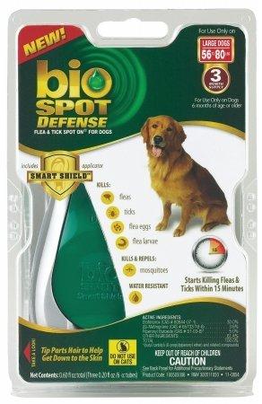 Bio Defense Spot Dog - Farnam Pet - Bio Spot Defense Flea Tick Spot On For Dogs- 56-80 Pounds 3 Month - 100505006