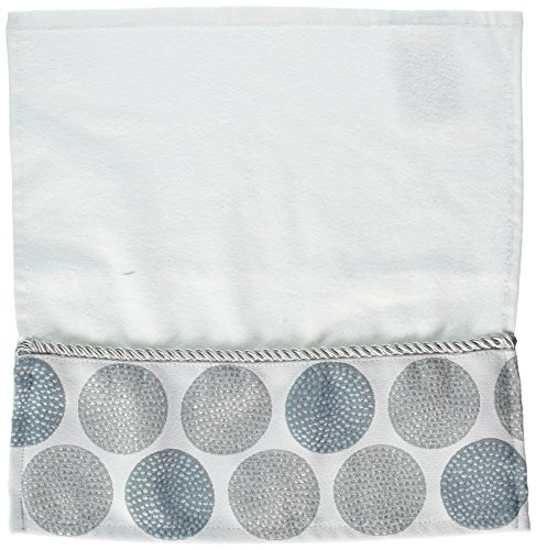 Avanti Linens Dotted Circles WASH, Medium, White ()
