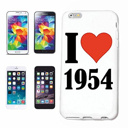 """Handyhülle iPhone 4 / 4S """"I Love 1954"""" Hardcase Schutzhülle Handycover Smart Cover für Apple iPhone … in Weiß … Schlank und schön, das ist unser HardCase. Das Case wird mit einem Klick auf deinem Smar"""