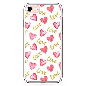 Loud Universe iPhone 7 Transparent Edge Case - Valentines Gift Love Heart Pattern