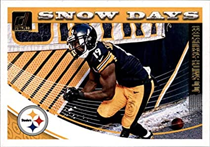 7337f76a6d7 2018 Donruss Snow Days Football Card #4 JuJu Smith-Schuster NM-MT Pittsburgh