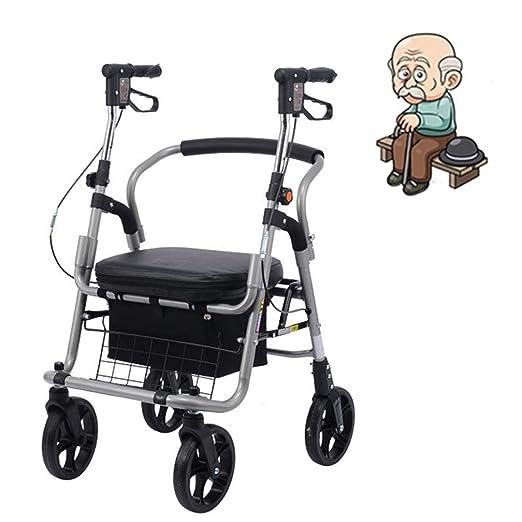 DIMOCHEN Andador para Adultos Silla De Ruedas Plegable Trolley ...