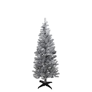 Holographic Christmas Tree.Paperchase Holographic Silver 5ft Christmas Tree Amazon Co