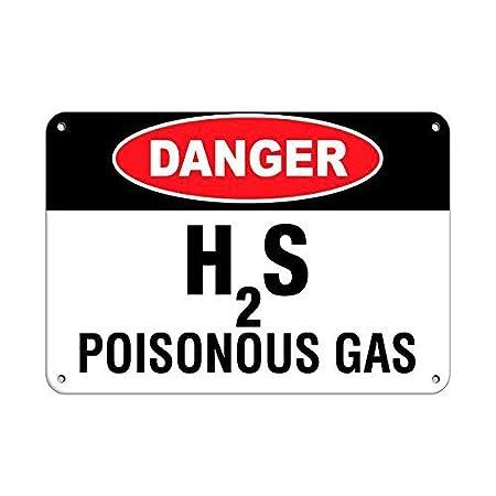 Tarfy Danger H2S Poisonous Gas Hazard Sign Poison Warning ...