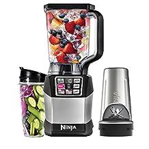 Ninja BL490C Nutri Auto-iQ Blender, Black Silver