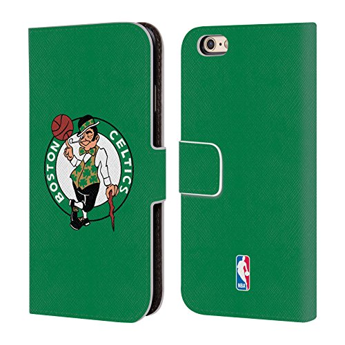 Officiel Nba Plaine Boston Celtics Étui Coque De Livre En Cuir Pour Apple iPhone 6 / 6s