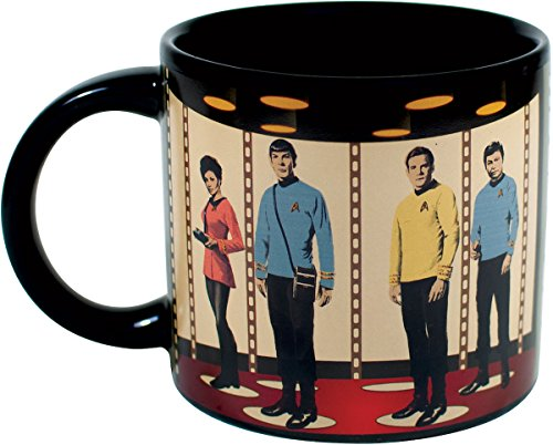 Star Trek Transporter Heat Changing Coffee Mug - Add Hot Liquid and Kirk, Spok, McCoy and Uhura Appear on the Planet's Surface - Comes in a Fun Gift Box - by The Unemployed Philosophers Guild