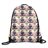 Guinea Pig Cartoon Girls Drawstring Backpack Large Capacity String Bags Hiking