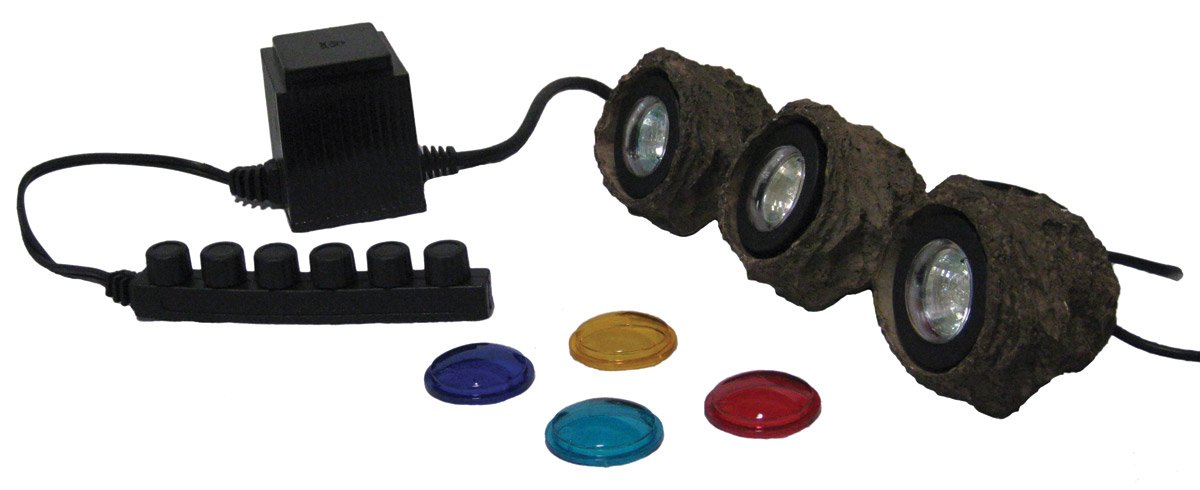 EasyPro MRK3 Submersible Light Kit with Three 10-Watt Halogen Lights and 60-Watt Transformer by EasyPro Pond Products