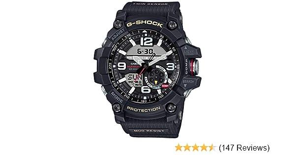 c7d457a3763 Amazon.com  Casio G-Shock Mudmaster Twin Sensor Mens  Sports Watch (Black)   Watches