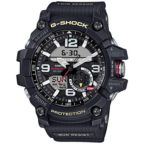 Casio G-Shock Mudmaster Twin Sensor Mens' Sports Watch (Black) (Best G Shock Mudmaster)