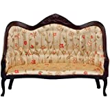 Classics Dollhouse Victorian Sofa, Mahogany with Floral Fabric