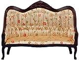 Classics Dollhouse Victorian Sofa, Mahogany with Floral Fabric