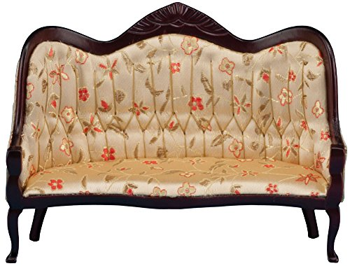 Classics Dollhouse Victorian Sofa, Mahogany with Floral
