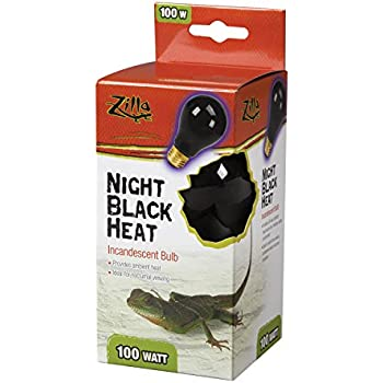 Amazon Com Zilla Reptile Terrarium Heat Lamps Incandescent Bulb Night Black 100w Aquarium