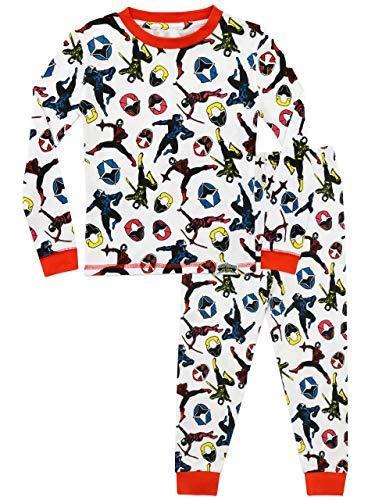 Power Rangers Boys' Ninja Steel Pajamas Size 6 White -