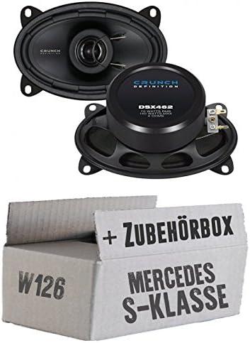 Lassse Front Heck Crunch Dsx462 4x6 Koax System Einbauset Für Mercedes W126 S Just Sound Best Choice For Caraudio Navigation