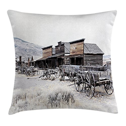 Ambesonne Western Decor Throw Pillow Cushion Cover, Old