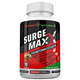 SURGE MAXX Testosterone Booster, 13 Powerful Natural Ingredients with 1600mgs D-AA, Boost Your Energy, Libido, Endurance, Vitality, Strength, Muscle Growth, Non GMO, Zero Fillers, Made in the USA