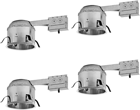 """Sunco Lighting 6 PACK 6/"""" inch Remodel LED Can Air Tight IC Housing Recessed UL"""