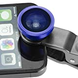 Camkix® Universal 3 in 1 Camera Lens Kit for Smart phones (iphone, Galaxy, HTC, Motorola), Ipad, Ipod touch, Laptops / One Fish Eye Lens / One 2 in 1 Macro Lens and Wide Angle Lens / One Universal Clip / One Microfiber Carrying Bag / with Camkix retail p